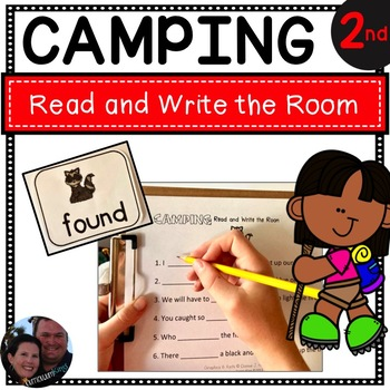Camping Read and Write the Room Second Grade - Common Core