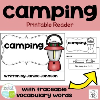 Camping Reader & Cut & Paste ~ For Young Readers