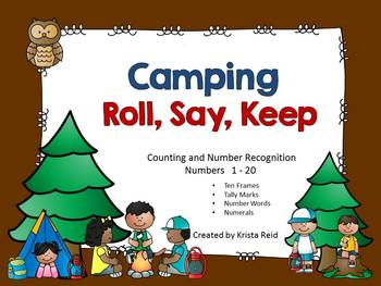 Camping - Roll Say Keep - Counting and Number Recognition