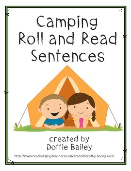 Camping Roll and Read Sentences