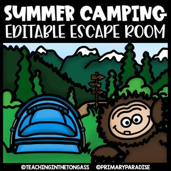 Camping Escape Room (Editable Escape Room Camping Activities)