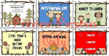 Camping Rules of the Camp Behavior Clip Charts