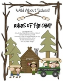 Camping Rules of the Camp Classroom Sign Set - Editable