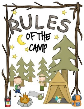 Camping Rules of the Camp Classroom Sign Set