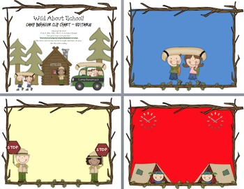 Camping Rules of the Camp Editable Behavior Clip Charts