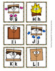 Camping S'mores Alphabet Letter Match Puzzles