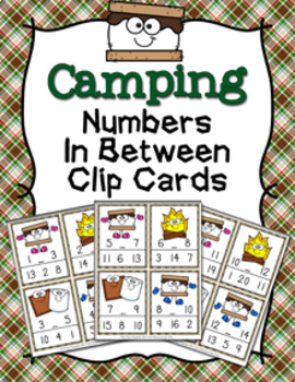 Camping S'mores Numbers In Between Clip Cards