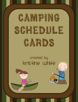 Schedule Cards Camping Theme