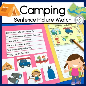 Camping Sentence Picture Match Reading Center