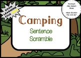 Camping Sentence Scramble Grammar Syntax (22 Sentences, Worksheet)