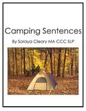 Camping Sentences