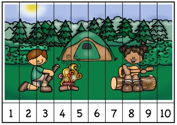 Camping Sequence Puzzles