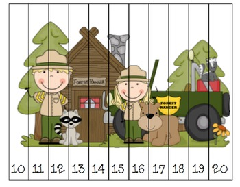 Camping Sequencing Puzzles