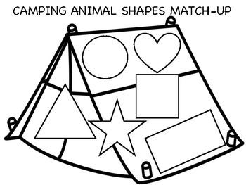 Camping Shape Match B&W