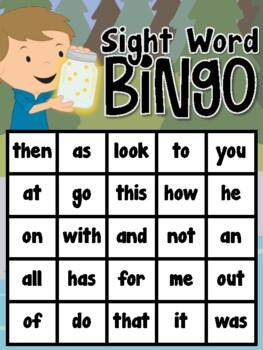 Camping Sight Word Bingo