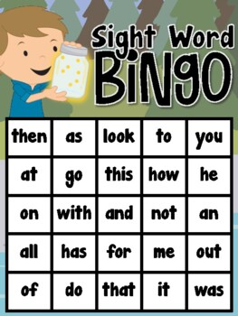 Camping Sight Word Bingo