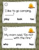 Camping Sight Word Comprehension