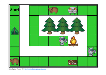 Camping Sight Word Fluency Phrases Race