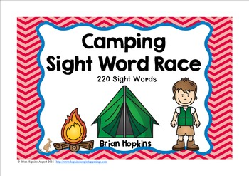 Camping Sight Word Race