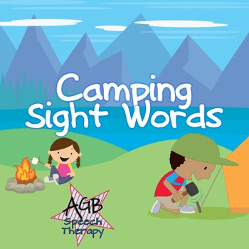 Camping Sight Words