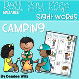 Camping Sight Words Roll, Say, Keep-Editable