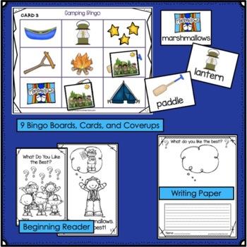 Camping Song & Activity Packet: Literacy & Math