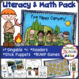 Camping Song & Activity Packet: Literacy & Math