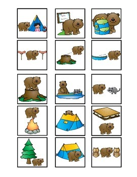 Camping Spatial Concept Cariboo with Flashcards