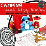 Camping Speech Therapy Activities: Therapy Win in the Dollar Bin