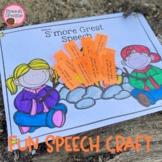 Camping Speech Therapy Craft Articulation Language Craftiv