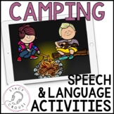 Camping Speech and Language Activities Interactive PDF