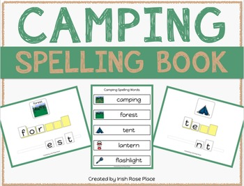 Camping Spelling Books (Adapted Book)