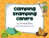 Camping Stamping Fun Word Work Centre