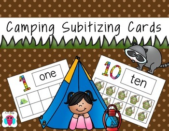 Camping Subitizing Cards from 0-10