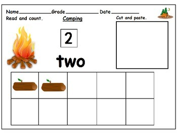 Camping Ten Frames : Cut and Paste Activity
