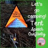 Camping Tent Speech Craftivity {language & articulation fa