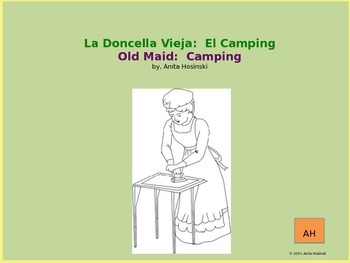 Camping Terms in Spanish Old Maid Game