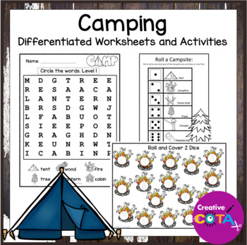 Camping Theme Differentiated Activities and Worksheets