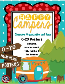 Camping Theme 0-20 Numbers Posters