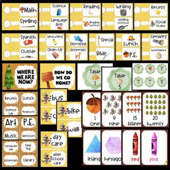 Camping Theme Classroom Decor EDITABLE (Camping Classroom Theme Decor)