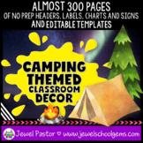 Camping Theme Classroom Decor EDITABLE (Camping Classroom