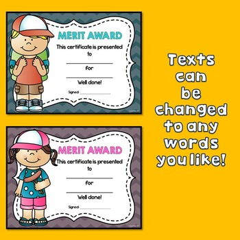 Camping Theme Certificates