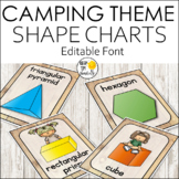 Camping Theme 2D and 3D Shapes Posters - Camping Theme Cla
