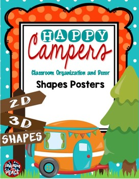 Camping Theme 2D and 3D Shapes Posters