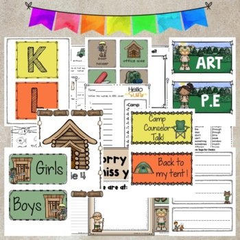 Camping Theme 2nd grade Activities and Decor