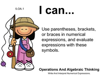 Camping Theme 5th grade math Common Core Posters Fifth Grade Standards
