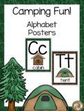 Camping Theme Alphabet Posters - Large, Medium & Flashcard
