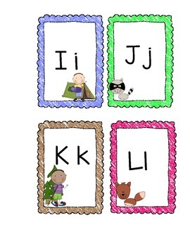 Camping Theme ABC cards