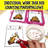 Camping Theme Activities, Counting Marshmallows Math Activity