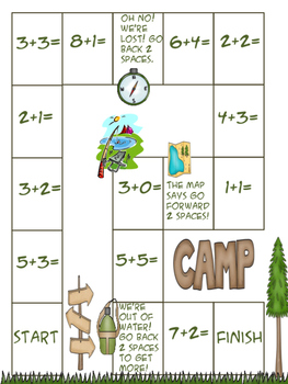 Camping Theme Addition, Subtraction and Counting